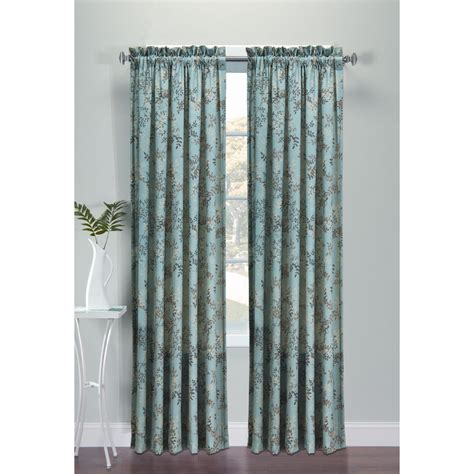 kmart window curtains essential home microfiber panel printed leaves home