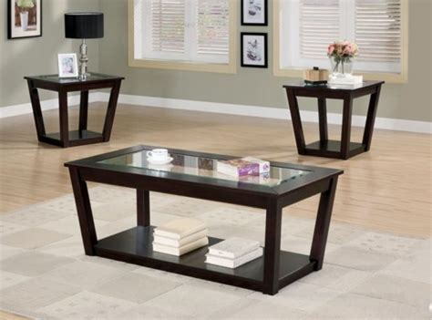 living room the most 3 piece quartz coffee end table set