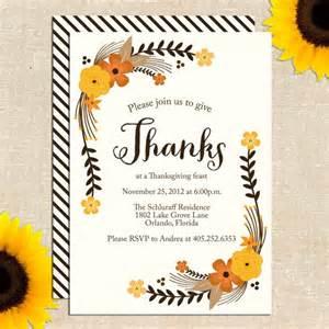 sweet thanksgiving invitation diy printable