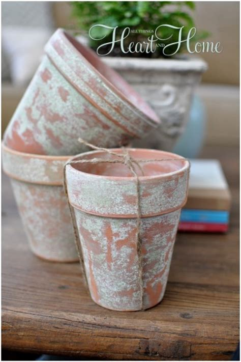 spray painting terracotta pots how to age terra cotta pots all things and home