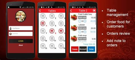 templates for android app development restaurant waiter app template for android android