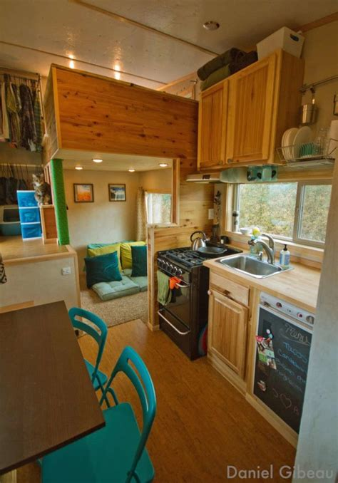 cute interior design for small houses dan brittany s off grid tiny house on wheels