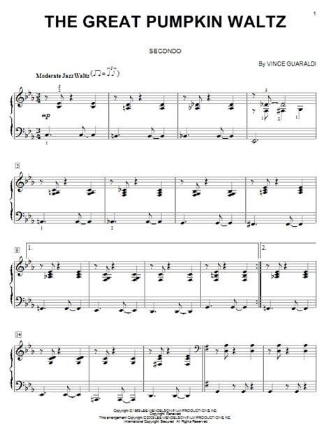 guitar tab the great pumpkin waltz video dailymotion the great pumpkin waltz sheet music direct
