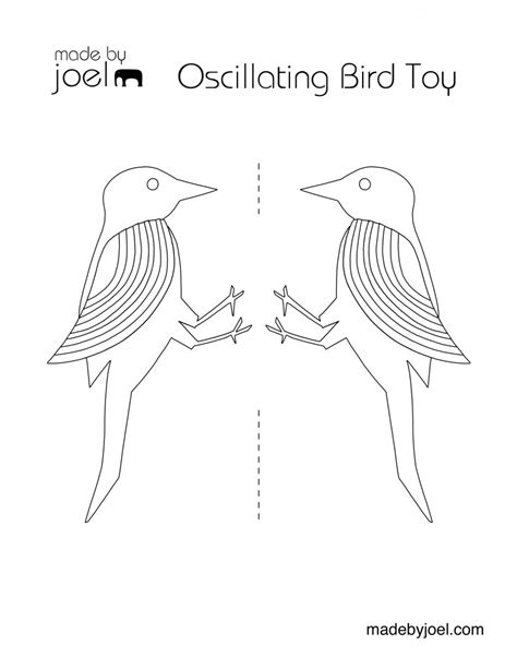 balancing bird template made by joel 187 oscillating bird science for