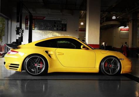 yellow porsche side view porsche 911 997 turbo side view yellow car fav