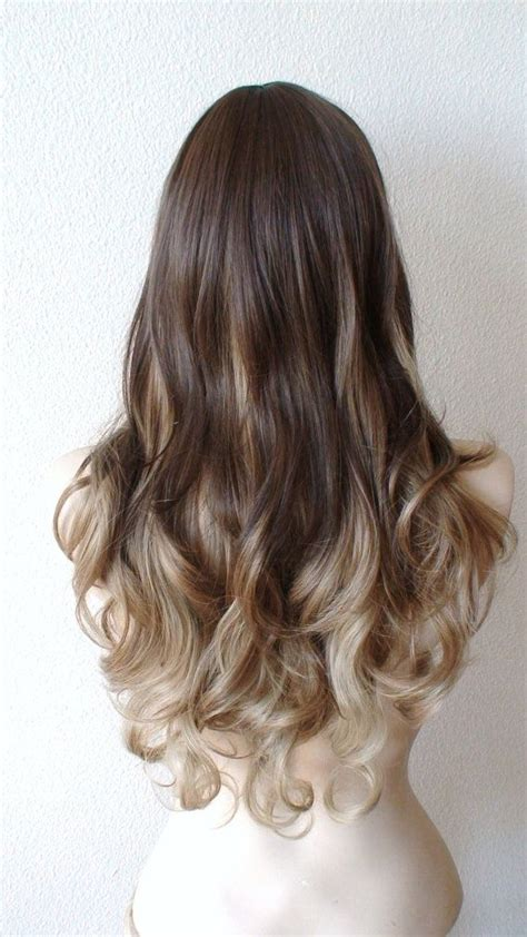 brown and blonde ombre with a line hair cut brown to blonde ombre hair color soooo pretty picmia