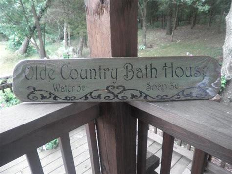 bathroom decor primitive bathroom sign rustic bathroom