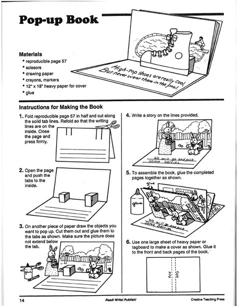 pop up storybook template tommie s tools how to make a pop up book