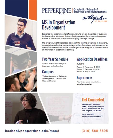 Https Bschool Pepperdine Edu Mba Programs by Master Of Science In Organizational Development