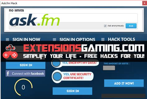 ask fm like bot ask fm hack extensions gaming