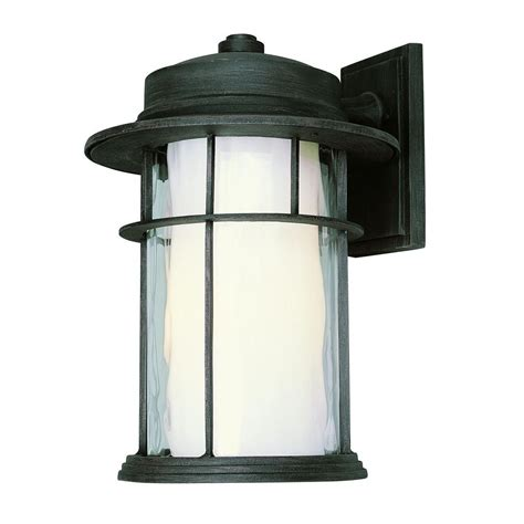 Bel Air Outdoor Lighting Bel Air Lighting Stewart 1 Light Rust Outdoor Incandescent Wall Lantern 5292 Rt The Home Depot