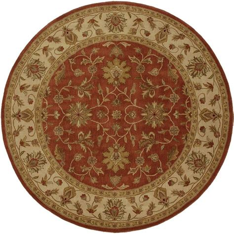 8 foot area rug artistic weavers franklin terracotta 8 ft x 8 ft area rug val 6002 the home depot