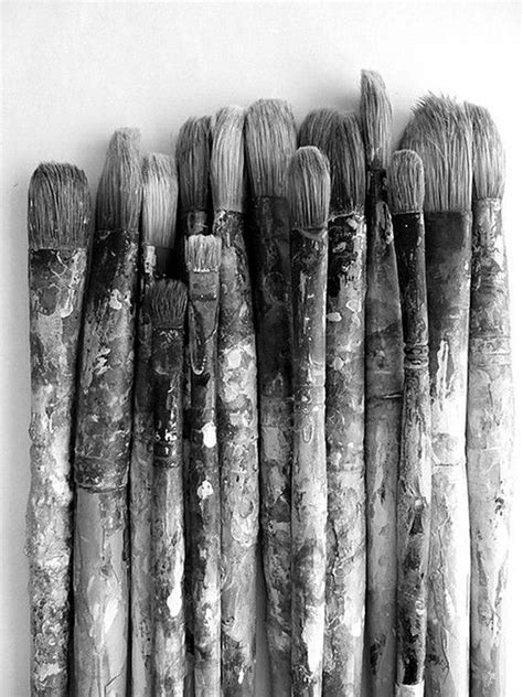 Black and white paint brushes | Picture perfect