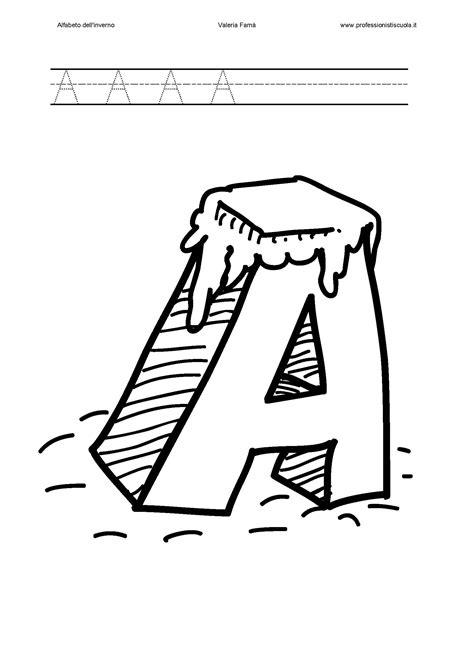 lettere alfabeto da colorare scuola infanzia alfabetiere dell inverno pregrafismo professionisti scuola