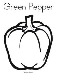 green pepper coloring page twisty noodle