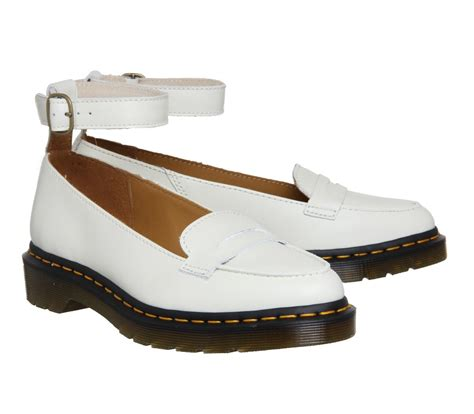 Ankle Loafers lyst dr martens leonie ankle loafer in white