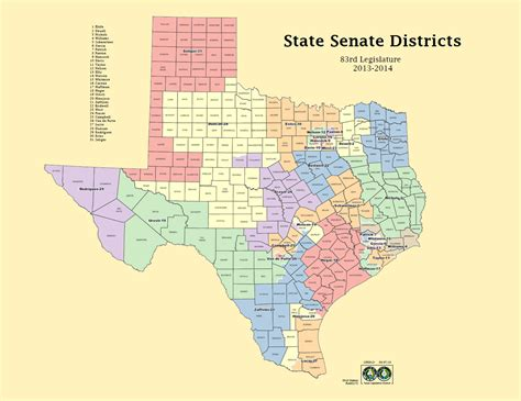 texas state senate districts map how texas should bring its senators closer to home hardhatters