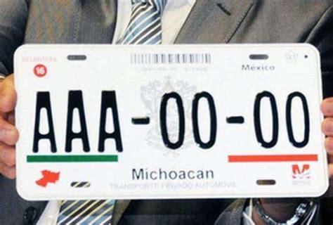 placas michoacan 2016 2016 placas de vehiculos en michoacan