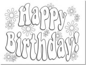 Happy birthday card printable coloring pagesbest images galery
