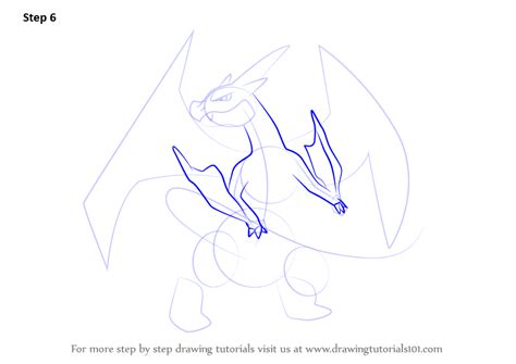 Charizard Y Drawing by Learn How To Draw Mega Charizard Y From