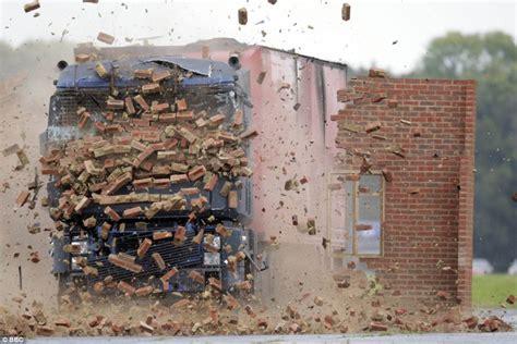 of trucks crashing was crashing a truck into a wall at 56mph really