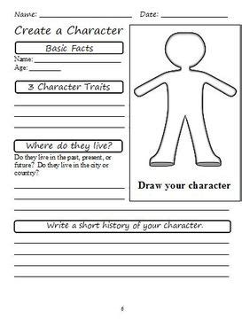 Creating A Character Worksheet Theatre