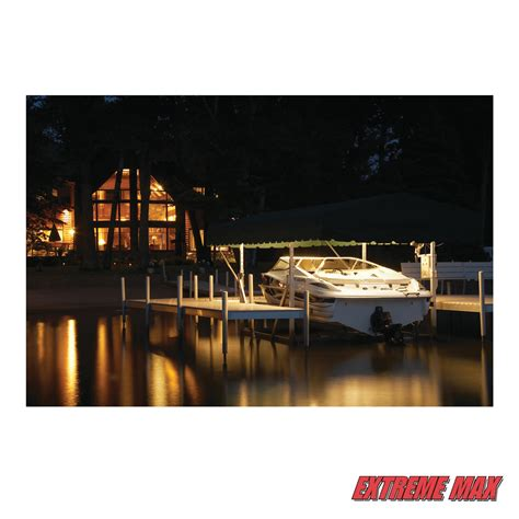 boat lift canopy lights extreme max canopy light for the boat lift boss lift black
