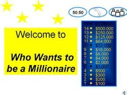 who wants to be a millionaire template ppt