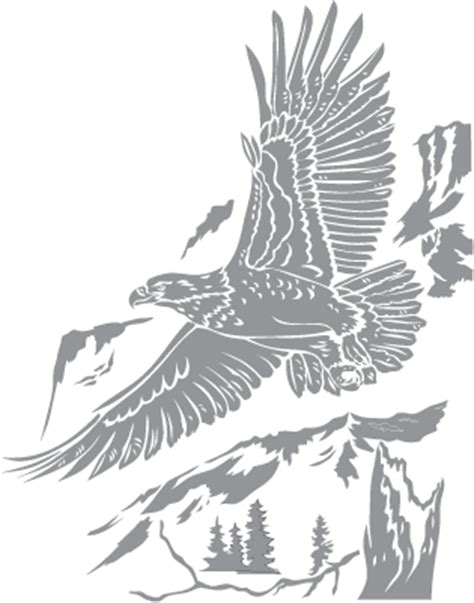 bald eagle over mountain pre cut patterns