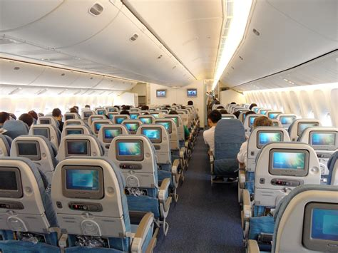 emirates vs garuda the economy class cabin of a philippine airlines boeing 77