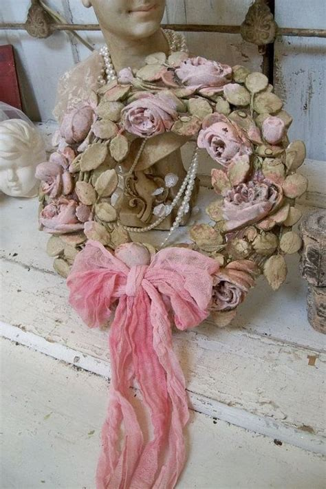 424 best wreaths shabby chic images on pinterest