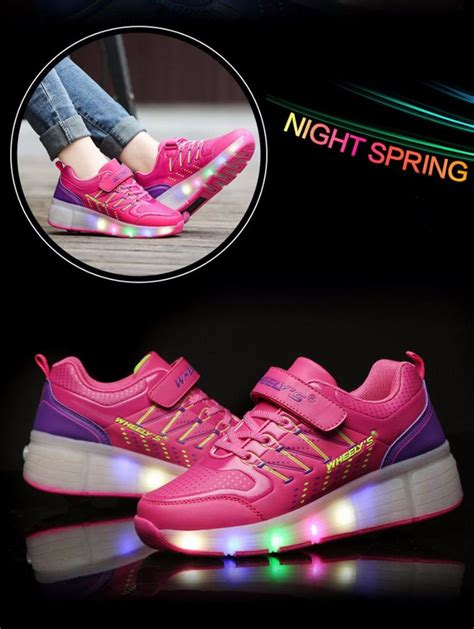sneakers with lights fashion children glowing sneakers roller skate shoes
