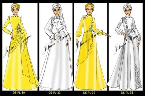 desain dress casual muslim sketsa desain page 14 jihanhusna spesialis rumah