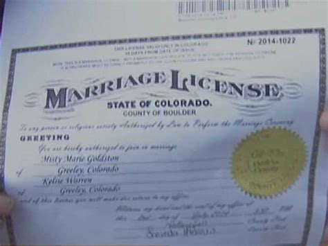 Colorado State Marriage Records Same Marriage License Colorado Age Reaction Ml