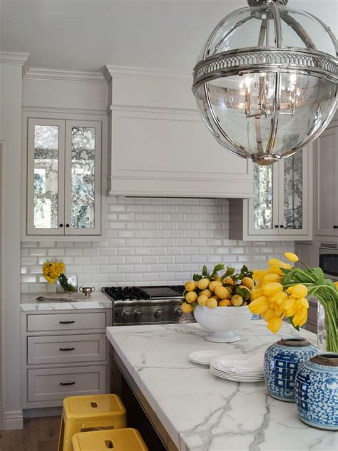 white kitchen with yellow accents blue and yellow accents kitchens