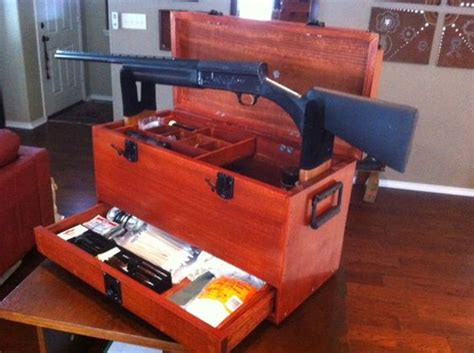 gun cleaning bench custom made gun box for storing gun cleaning items