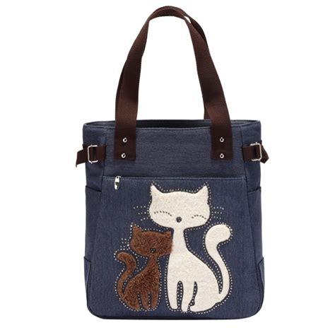 Applique Shoulder Bag canvas shoulder bag with cat appliqu 233 plaza