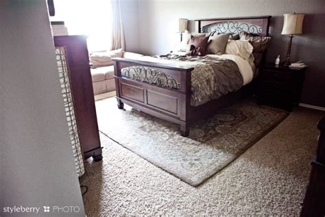 how to place a rug under a bed how to place a rug under a bed design tip styleberry blog