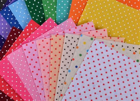 diy printable fabric sheets printed felt fabric polka dot 20 mix colors diy non woven