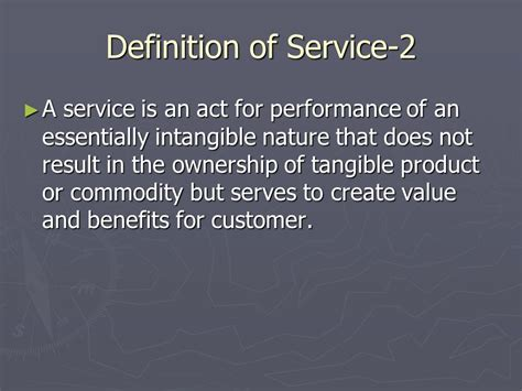 Definition Of Mba In by Marketing Of Services Mba Sem Iii Term Ppt