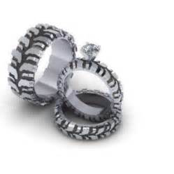 tire wedding rings mud tire rings but im pretty sure i would scratch myself with it things that remind me