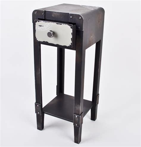 schublade industrie beistelltisch industrial style tisch container metall 1