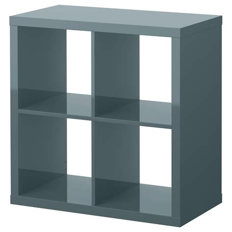 kallax shelving unit high gloss grey turquoise 77x77 cm ikea