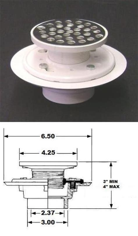 Low Profile Shower Drain For Solid Floors by Plasticoddities
