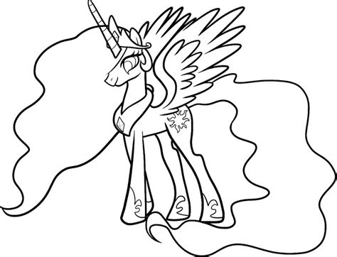 celestia my little pony coloring page my little pony