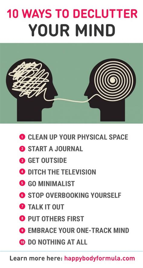10 Ways To And Make Up 10 ways to declutter your mind happy formula