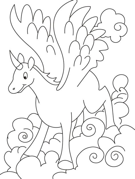 coloring page flying unicorn free coloring pages of unicorn with wings