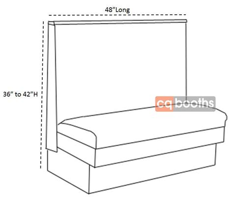 restaurant bench seating dimensions booth shapes and sizes archives cqbooths