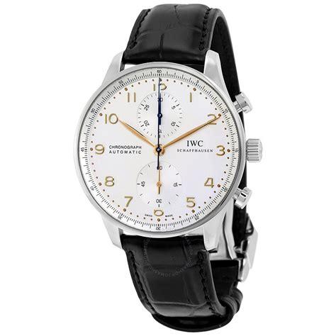 iwc portuguese chronograph silver s 3714 45