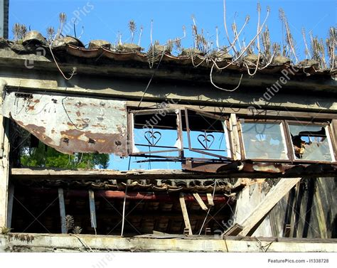 heart house windows heart shaped window decor in a broken house picture